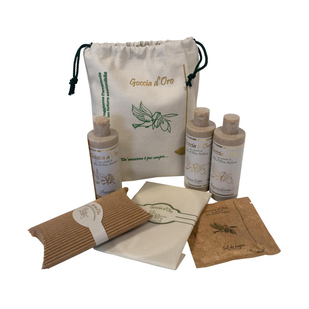 Il regalo BIO che rispetta l'Ambiente: sacchettino con cosmetici eco friendly